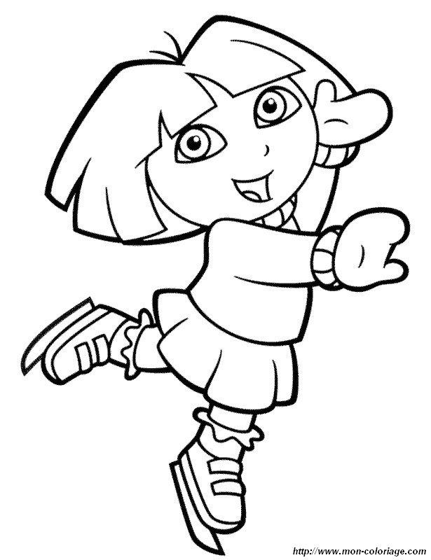 Atemberaubend Dora Und Stiefel Malvorlagen Ideen - Framing ...