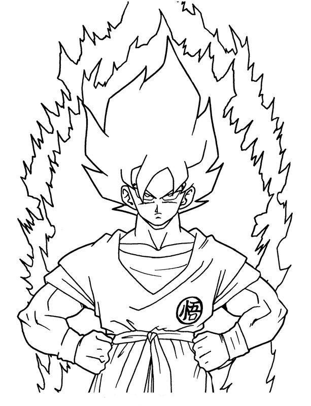 Ausmalbilder Dragon Ball Z Bild Son Goku Super Krieger