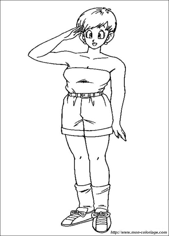 Ausmalbilder Dragon Ball Z Bild Bulma Ehefrau Von Vegeta