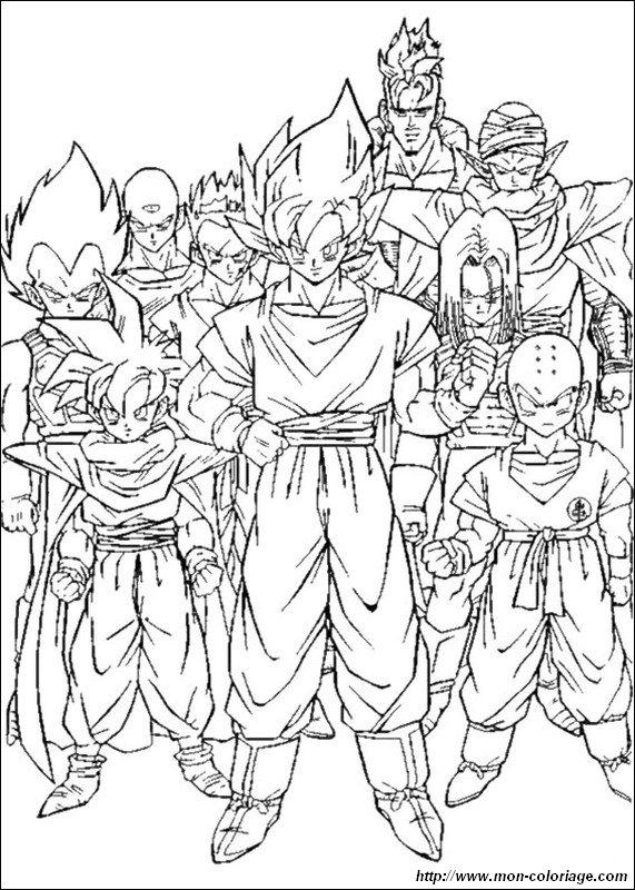 Ausmalbilder Dragon Ball Z, bild gruppe cell zeitraum