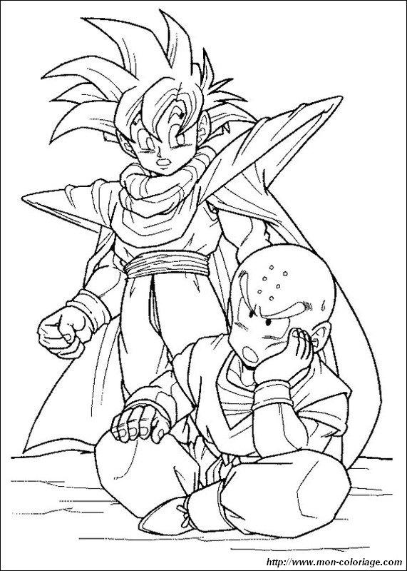 Ausmalbilder Dragon Ball Z Bild Krillin Und Son Gohan
