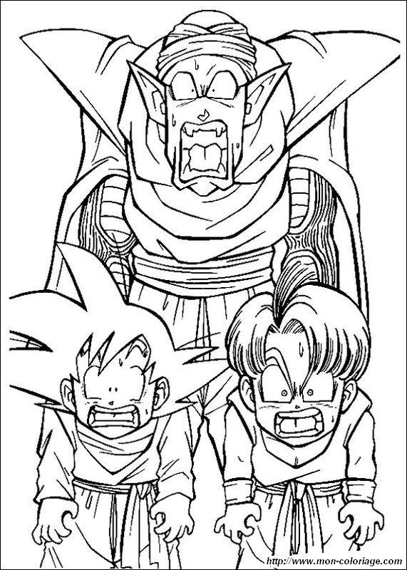 Ausmalbilder Dragon Ball Z Bild Son Goten Piccolo Trunks