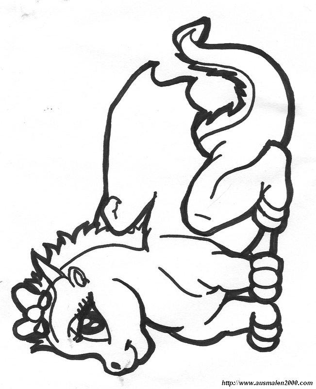 ausmalbilder drache bild ein baby drachen