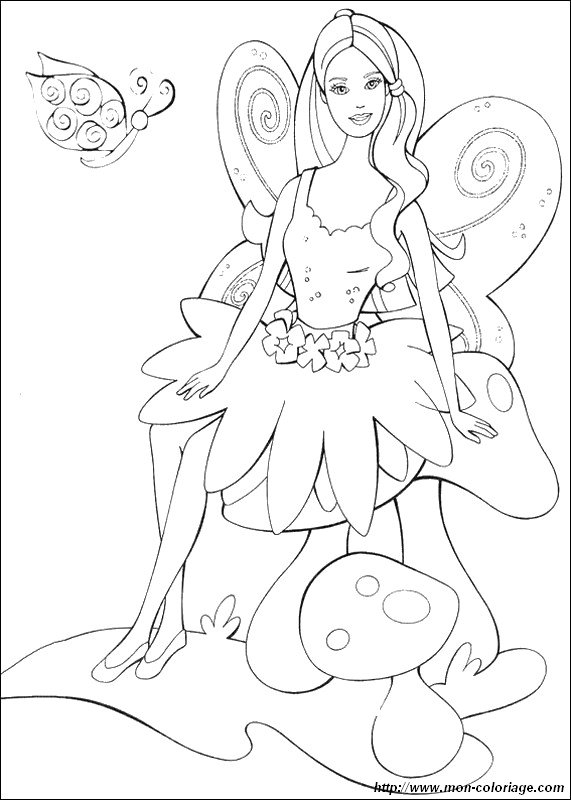 Coloring Pages Barbie Fashion Fairytale