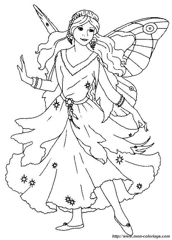 fairy coloring pages for kids - ausmalbilder fee bild fee14