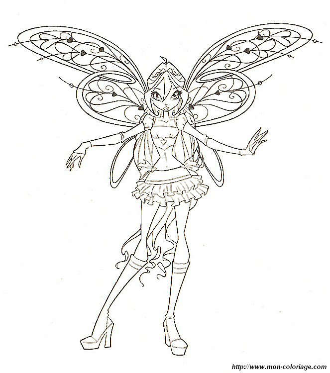 Ausmalbilder fee bild winx club bloom fee for Bloom winx coloring pages