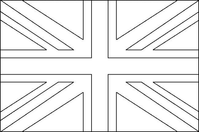 Colouring Pages Union Jack Flag