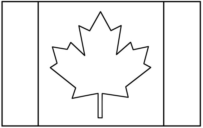 Ausmalbilder Flagge, bild Kanada