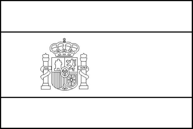 Ausmalbilder Flagge Bild Spanien