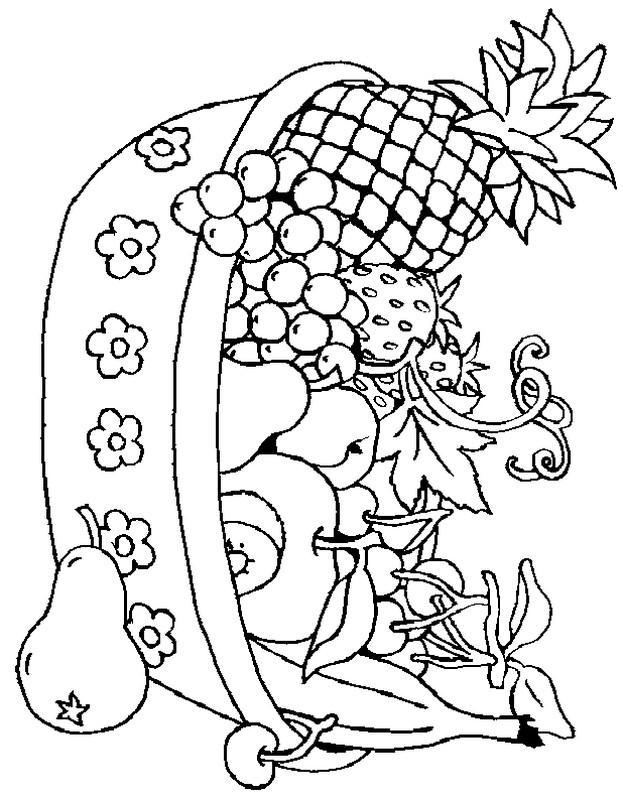 ausmalbilder frucht oder obst, bild die wahl ist schwer