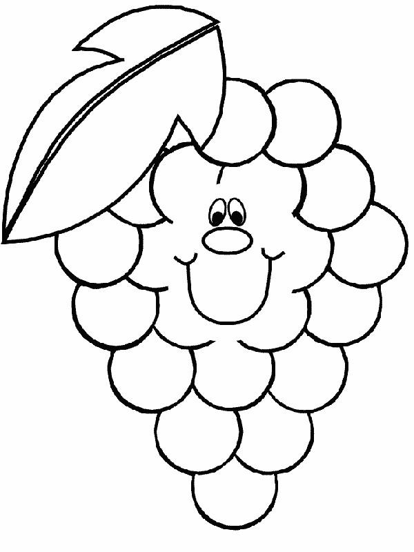 Ausmalbilder Frucht Oder Obst Bild Eine Reihe Von Trauben