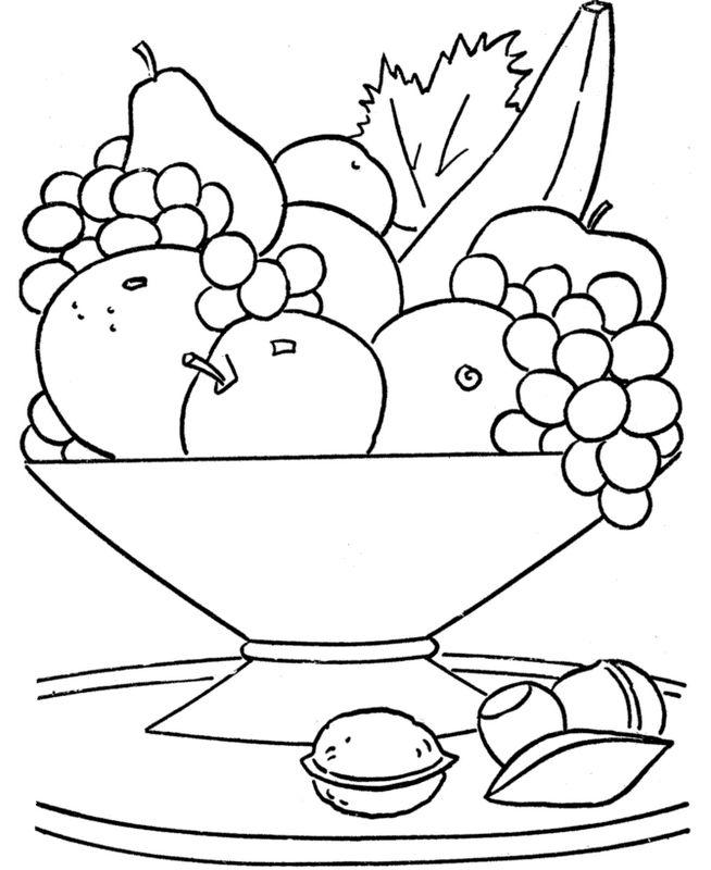 Ausmalbilder Frucht Oder Obst Bild Einen Obstkorb