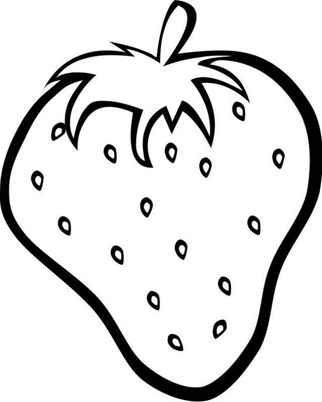 Ausmalbilder Frucht Oder Obst Bild Erdbeere Ausmalbilder