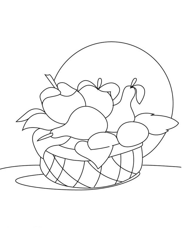 Ausmalbilder Frucht Oder Obst Bild Obstkorb