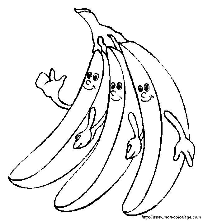 ausmalbilder frucht oder obst bild bananen