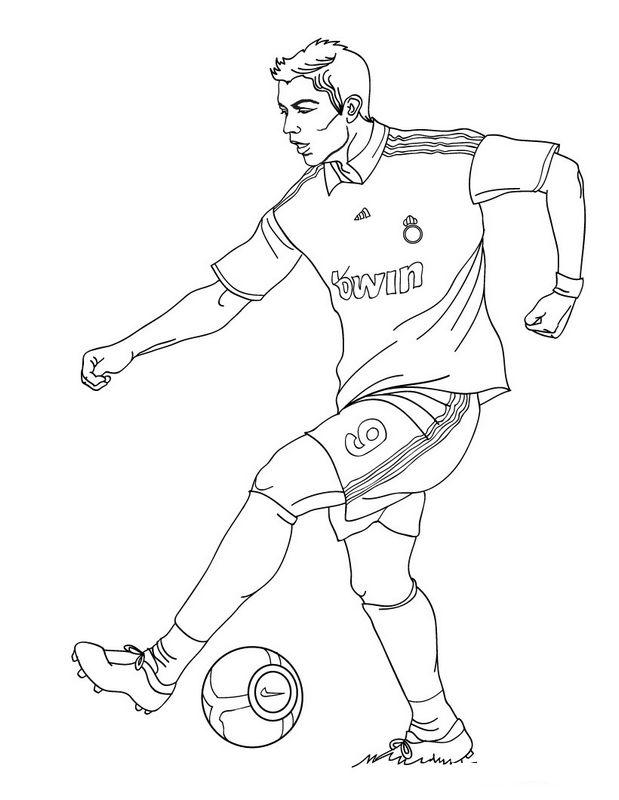 Ausmalbilder Fussball Bild Cristiano Ronaldo