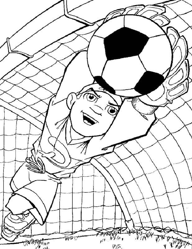 Ausmalbilder Fußball Bild Der Torhuter