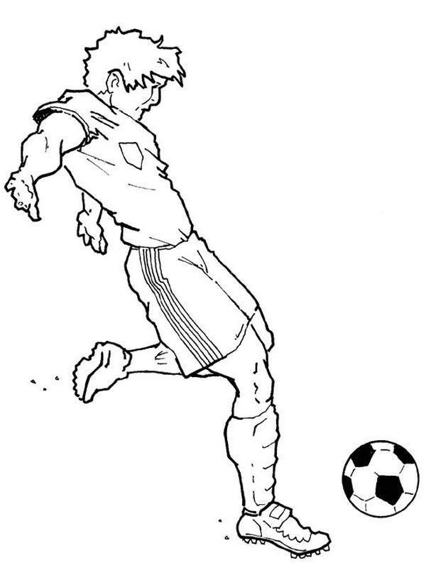 Ausmalbilder Fußball Bild Ein Fussball Spieler