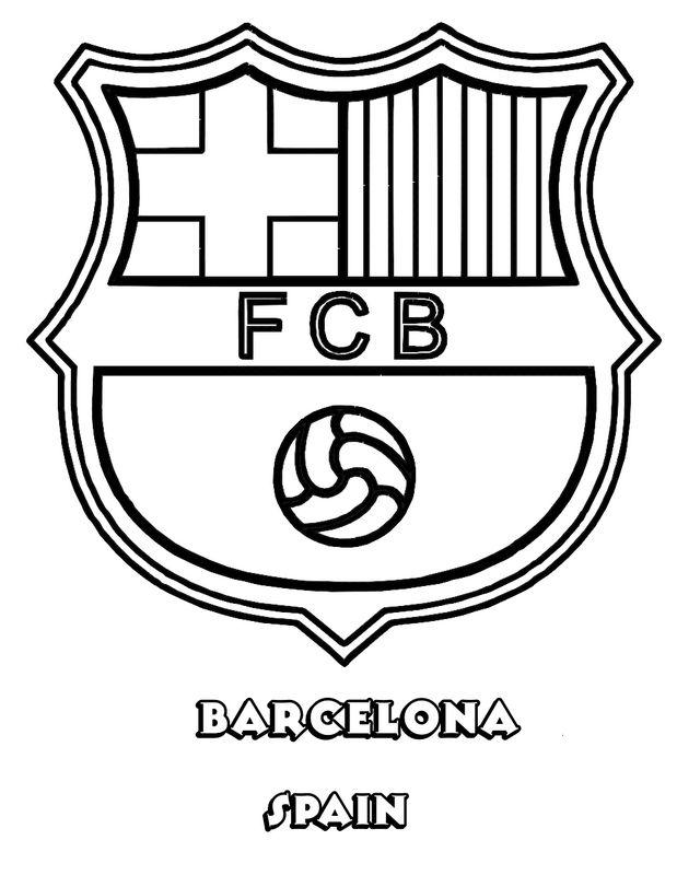 Ausmalbilder Fußball Bild Fc Barcelona