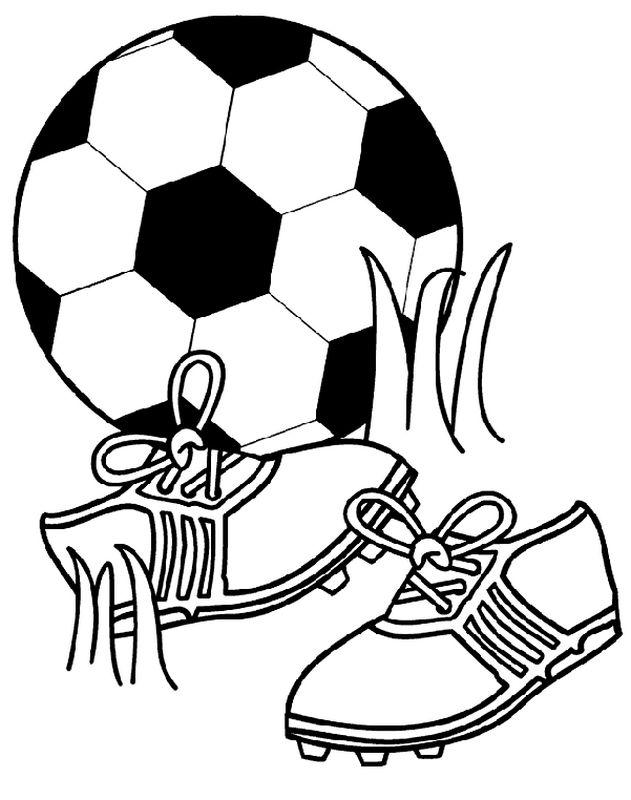 ausmalbilder fußball bild fussball schuhe