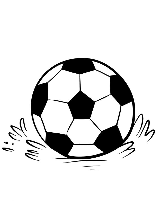 Images Of Soccer Ball Coloring Pages