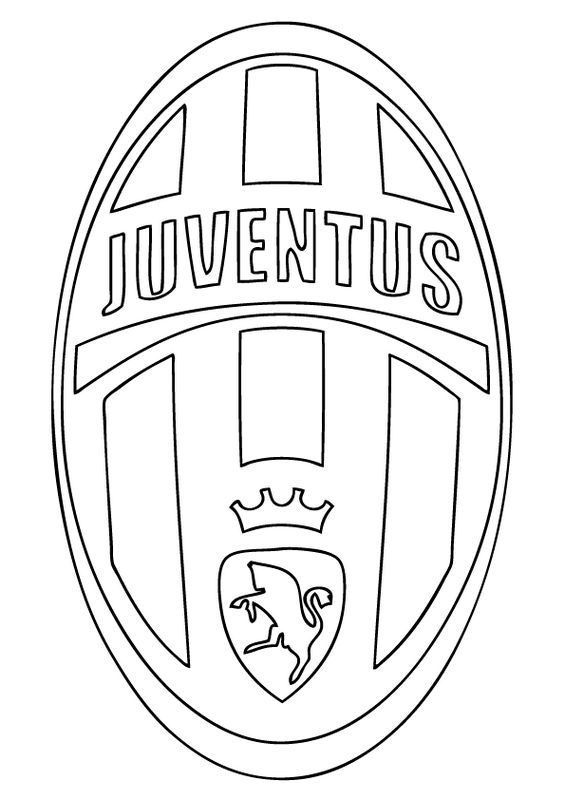 Ausmalbilder Fußball Bild Juventus Turin