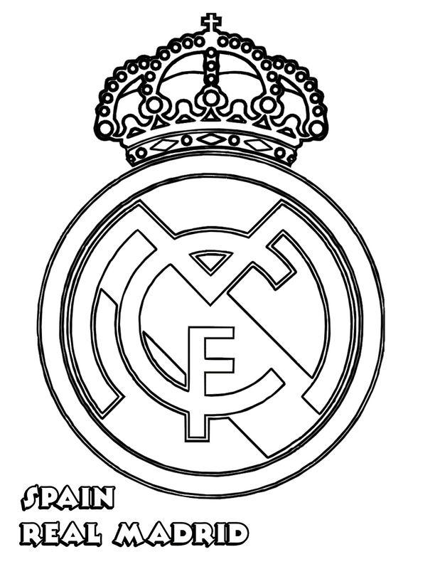 Ausmalbilder Fußball Bild Real Madrid
