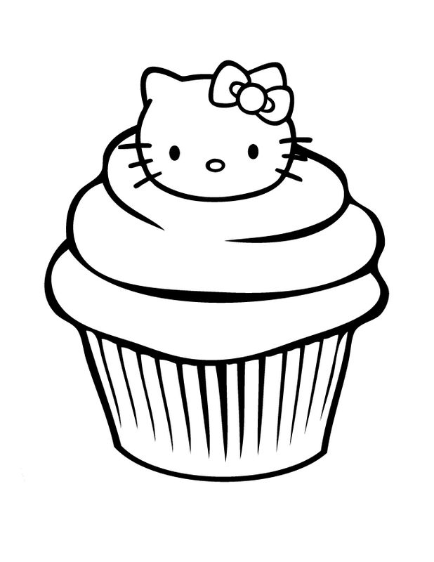 Großartig Hallo Kitty Cupcake Malvorlagen Ideen - Beispiel ...