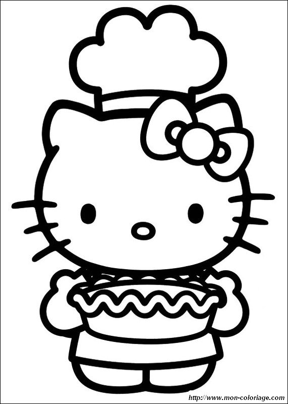 Ausmalbilder hello kitty bild sie machte einen kuchen for Hello kitty fall coloring pages