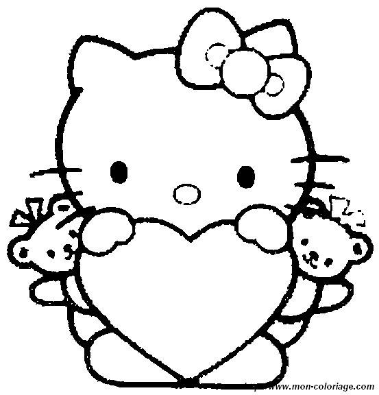 Ausmalbild hello kitty ausdrucken