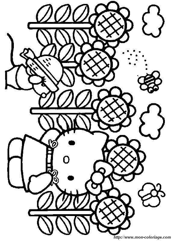Ausmalbilder hello kitty bild hello052 - Coloriage hello kitty fleurs ...