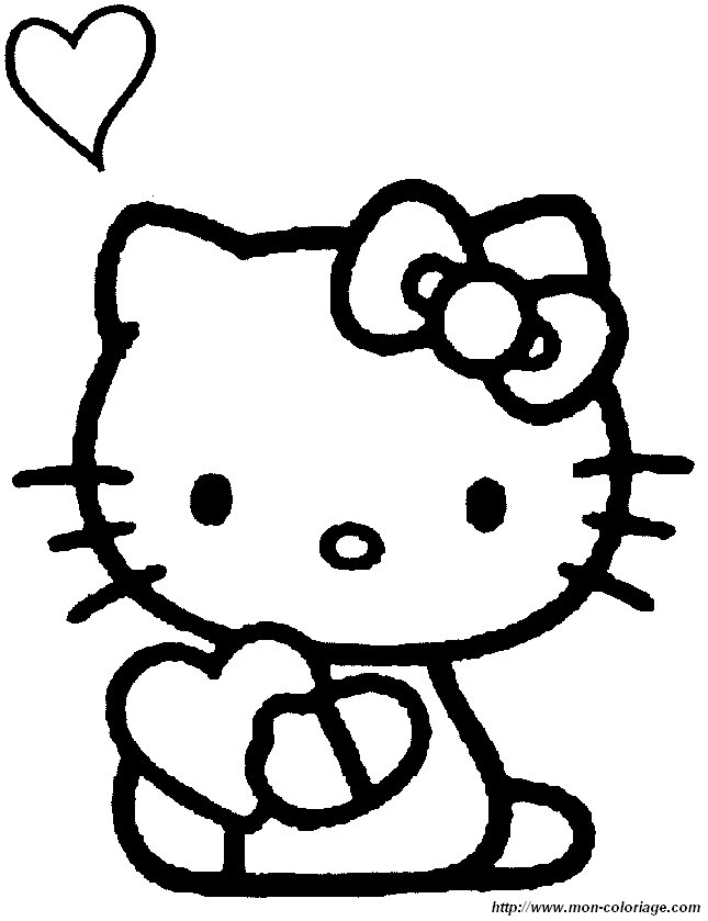 hello kitty valentine coloring pages - photo#36