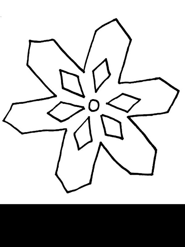 Ausmalbilder winter bild schneeflocke - Dessin flocon de neige facile ...
