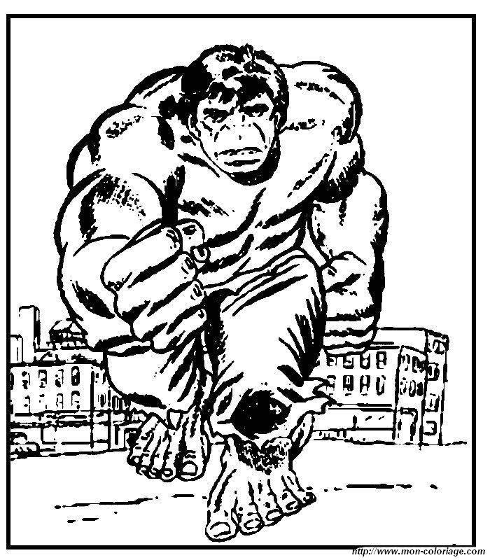 Hulk Bilder Zum Ausmalen: Ausmalbilder Hulk, Bild 013