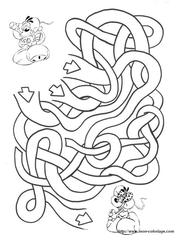 Ausmalbilder Labyrinth Spiele Bild Diddl Und Diddlina Gehen Verloren