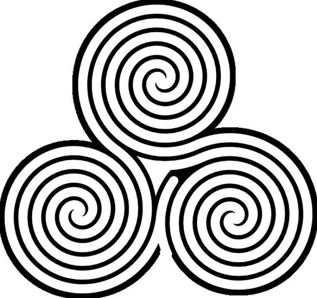 Ausmalbilder Labyrinth Spiele Bild Ein Keltisches Symbol
