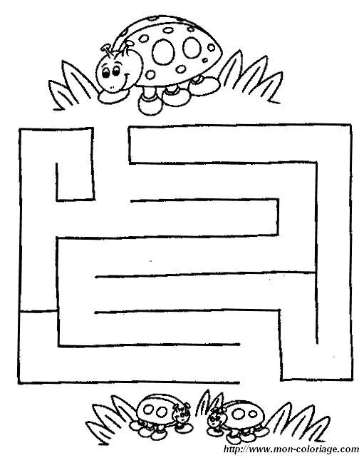 ausmalbilder labyrinth spiele  bild labyrinth tiere 11