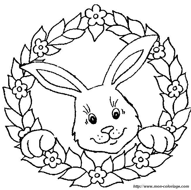 Ausmalbilder Kaninchen, bild kaninchen 0018