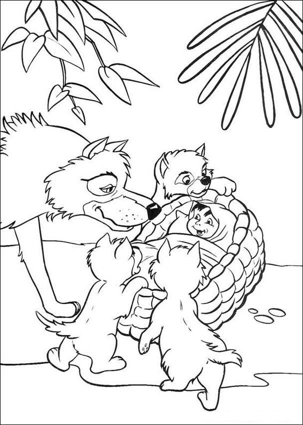 Ausmalbilder Das Dschungelbuch Bild Der Wolf Mutter Mogli