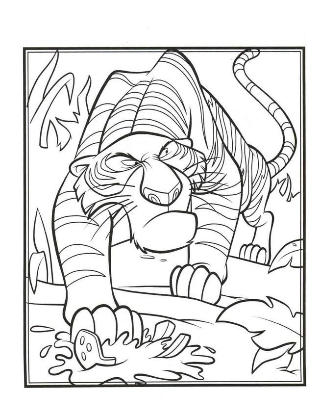 Ausmalbilder das dschungelbuch bild shir khan der tiger for Immagini tigre da colorare