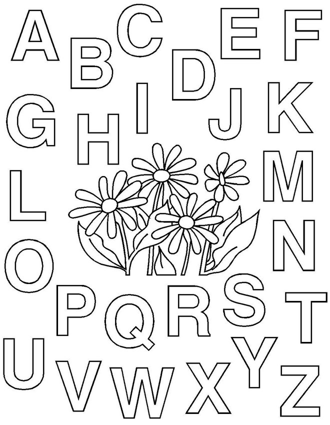 Ausmalbilder Malvorlagen für Lehrkräfte, bild Alphabet
