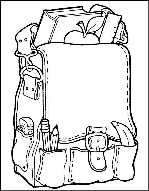 Rucksack ausmalbild  Ausmalbilder Malvorlagen für Lehrkräfte, bild Eine Aktentasche ...