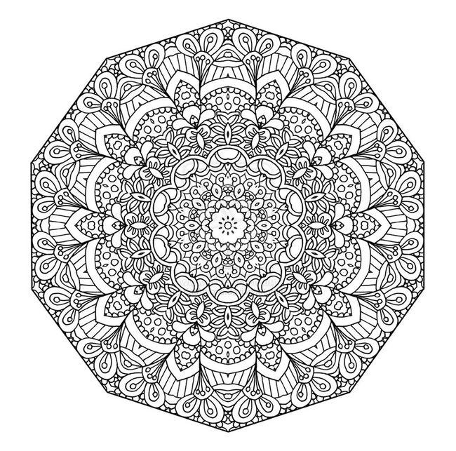 Ausmalbilder Mandalas, bild Ausmalbilder Mandala Erwachsenen