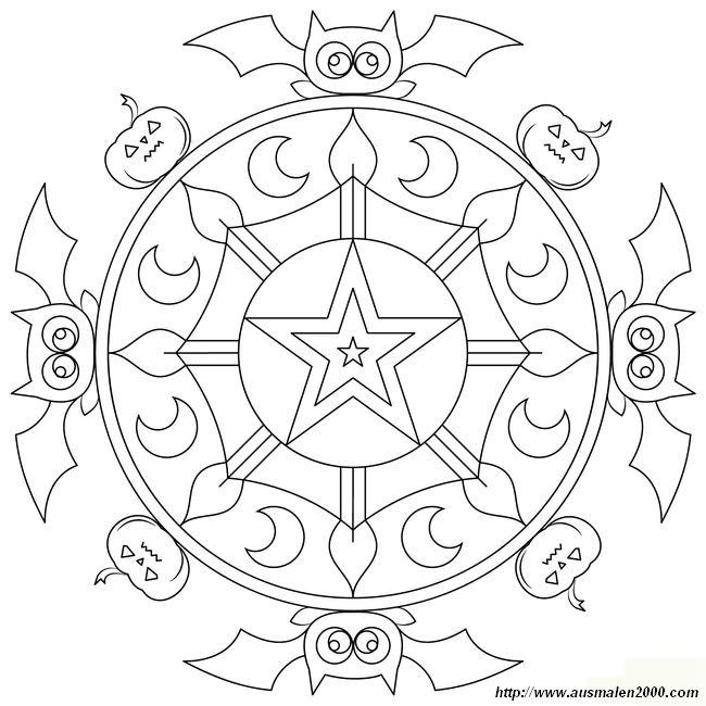 Ausmalbilder Mandalas Bild Erwachsene Mandala Fur Halloween