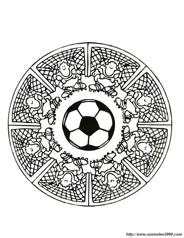 Ausmalbilder Mandalas Bild Fussball Spezial