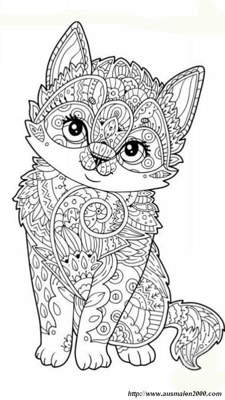 Großartig Mandala Katzen Ideen - Ideen färben - blsbooks.com