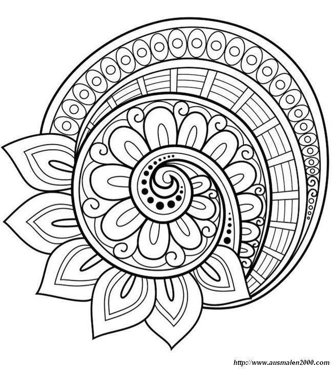 Ausmalbilder Mandalas Bild Und Das Soll Wohl Eine Schnecke Sein