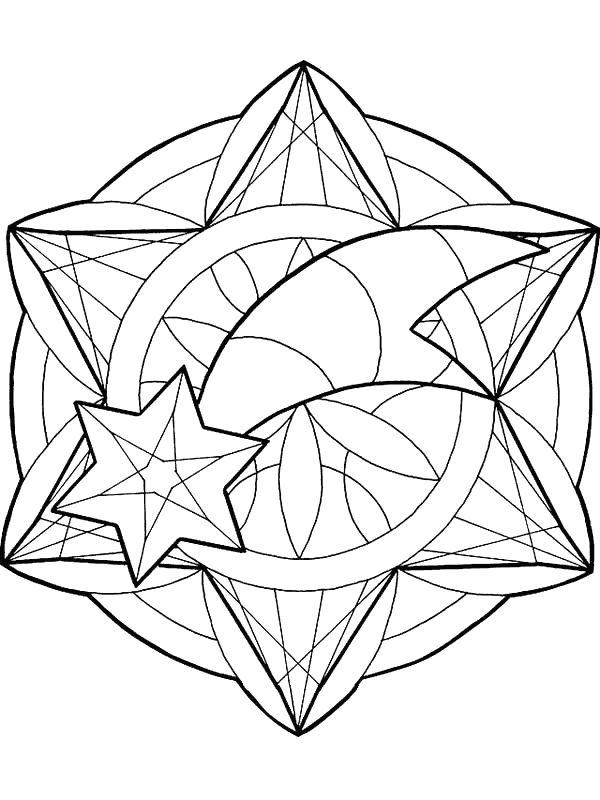 Ausmalbilder Mandalas Bild Weihnachten Sternschnuppe