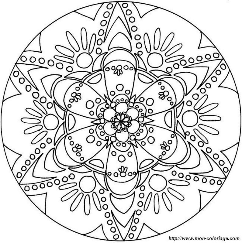 Ausmalbilder Mandalas  Bild Mandala Blume