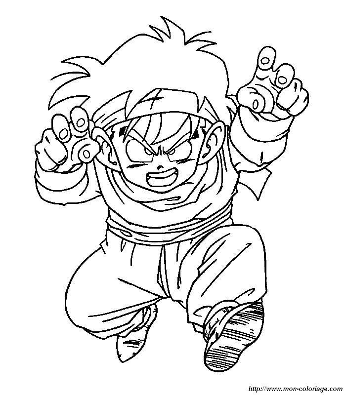 Ausmalbilder Manga, Bild Dragon Ball Z Manga